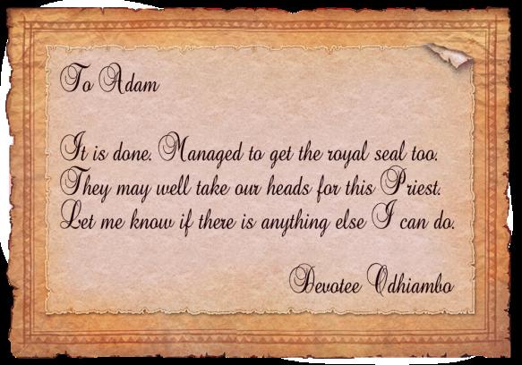 adam new letter